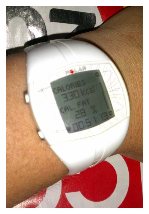 Finally fixed and we have a calorie count for a workout.