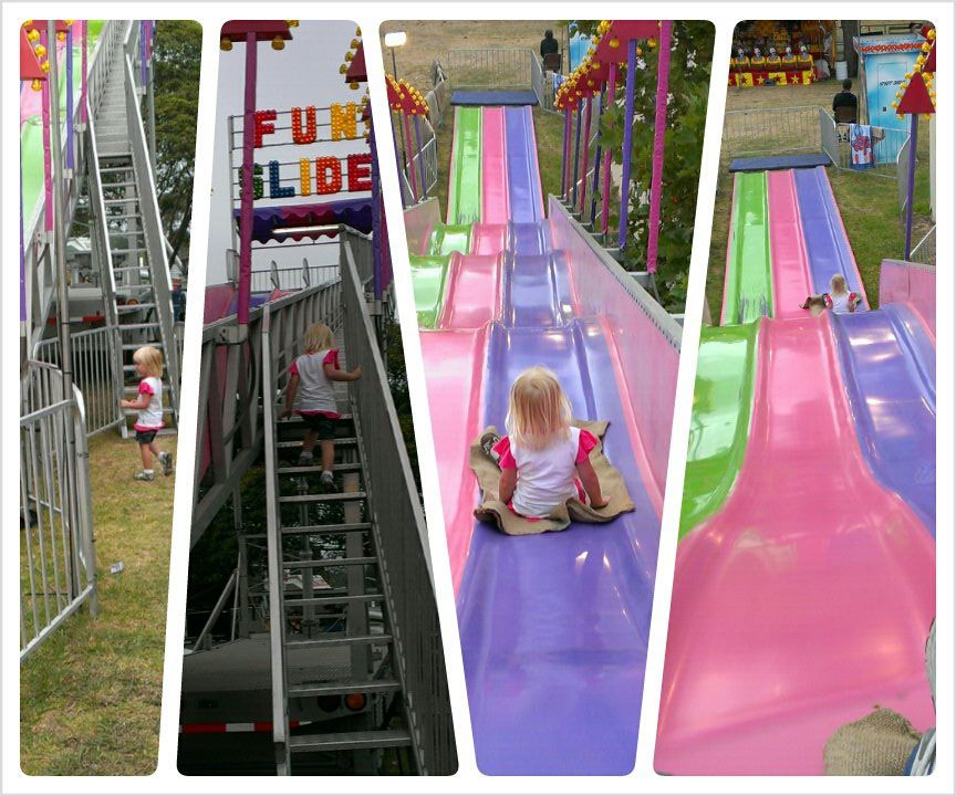Giant slide, we both loved it.