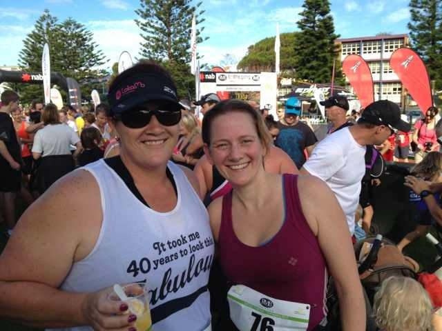 With my friend Colleen, she inspired me to keep on running.