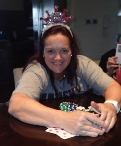 Texas Hold-em champion, the Birthday Girl, yeah baby.