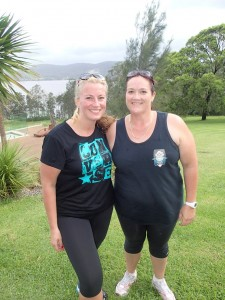 with my beautiful Bridesmole Kristy. We did it, went for a run and in our 17 years of knowing each other an many many girls weekends away we have never done exercise.