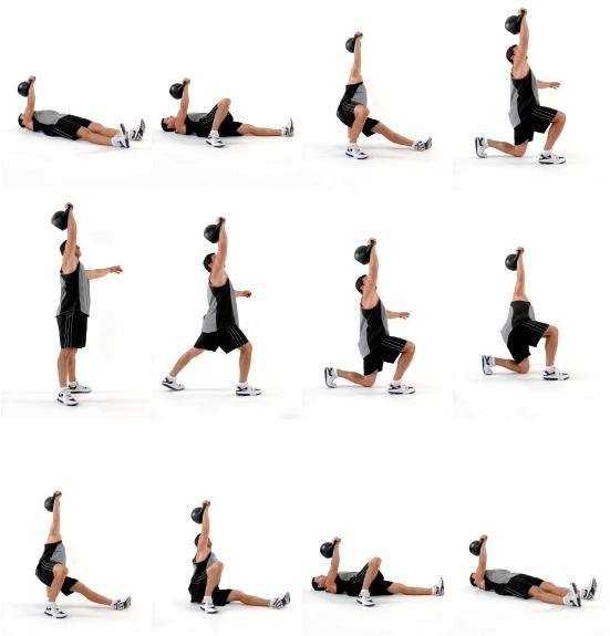 Turkish Get-Ups - Try 20 of these without weights.