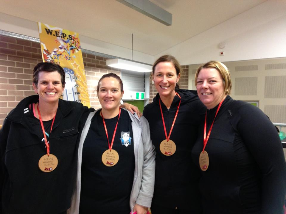 "The ladies relay Champions ""Bulli Shores"" featuring L to R; Kim Walker, myself, Kim Arnold and Amanda McDowall"