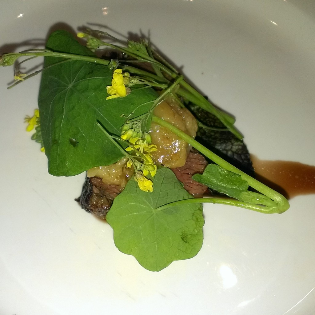 Fillet, wild garlic, wild forages