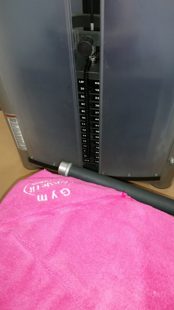 The leg-press stack, currently at 79kg plus the 3kg drop = 82kg, watch this space.