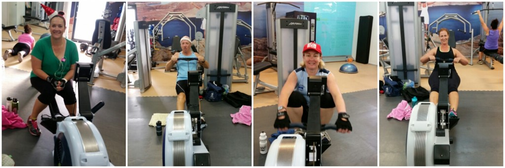 All happy rowers before and in the very early stages of the Half Row Ho Ho